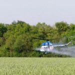 Внекорневая подкормка пшеницы с вертолёта
