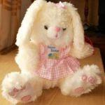 Мягкая игрушка зайка в сарафанчике 24 см baby zoo