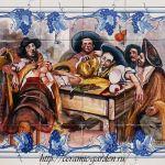 панно для стен, ручная роспись на плитке из Португалии