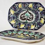 узбекская посуда ручной росписи ляганы, тарелки, пиалы, чайники